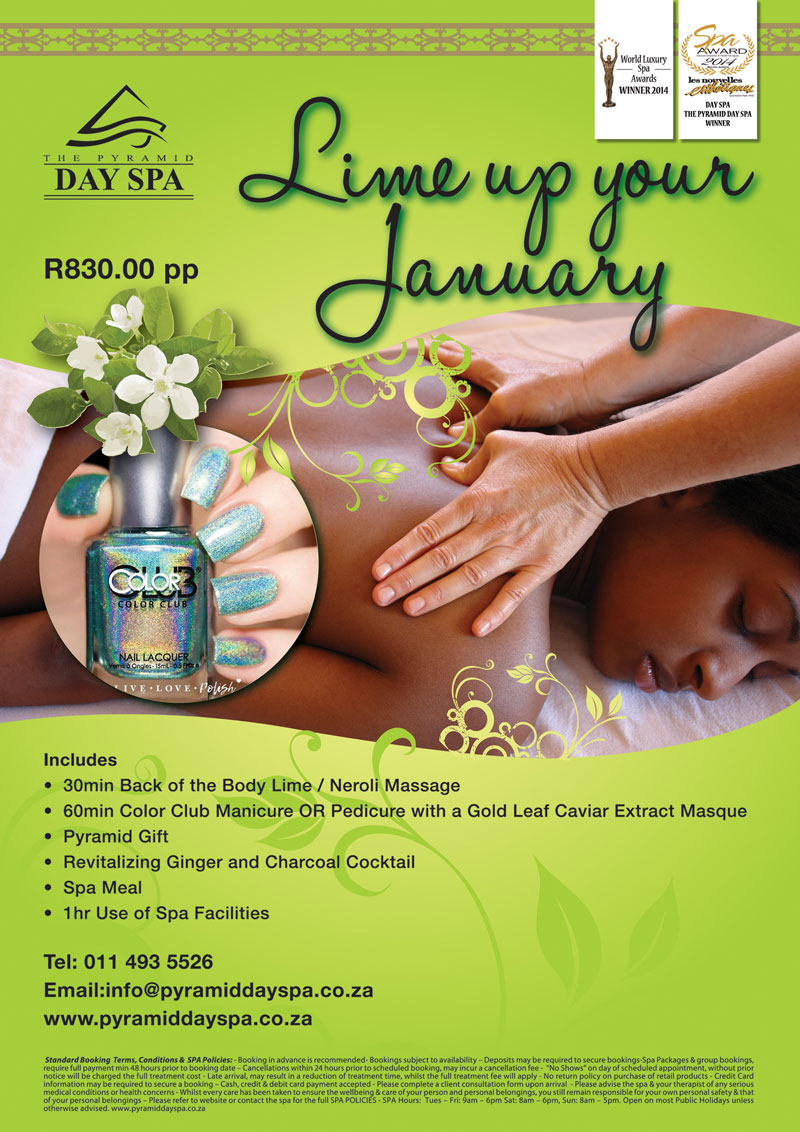January Promotion - The Pyramid Day Spa Johannesburg
